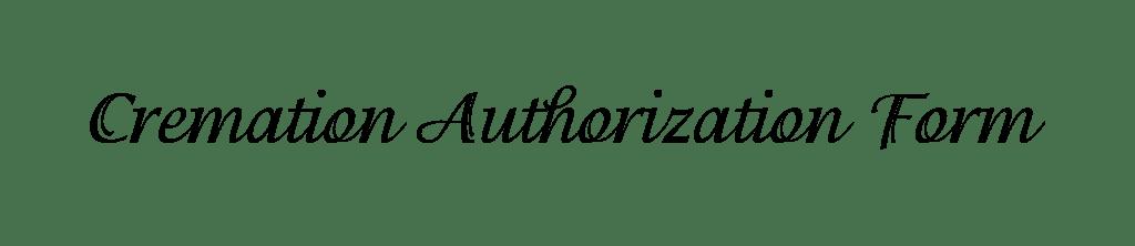 cremation authorization