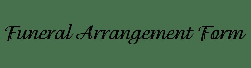 funeral arrangement form