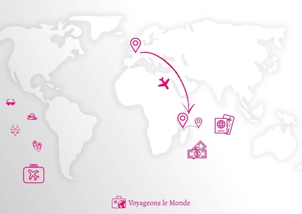 Carte monde - Madagascar