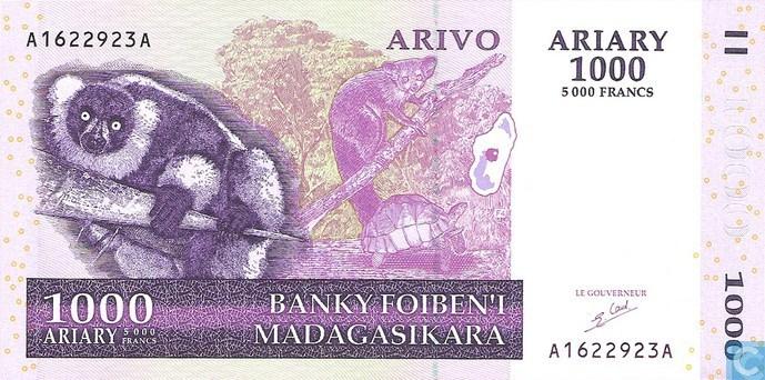 Billet 1000 ariary - Madagascar