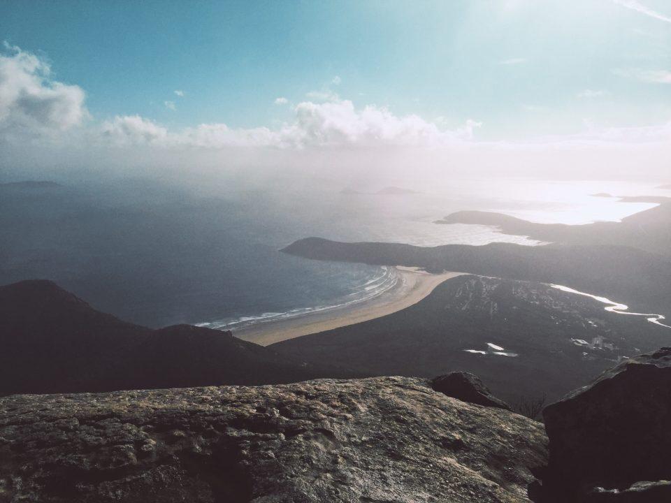 Vue sur la Tidal River depuis le sommet du Mont Oberon, Wilson Promontory