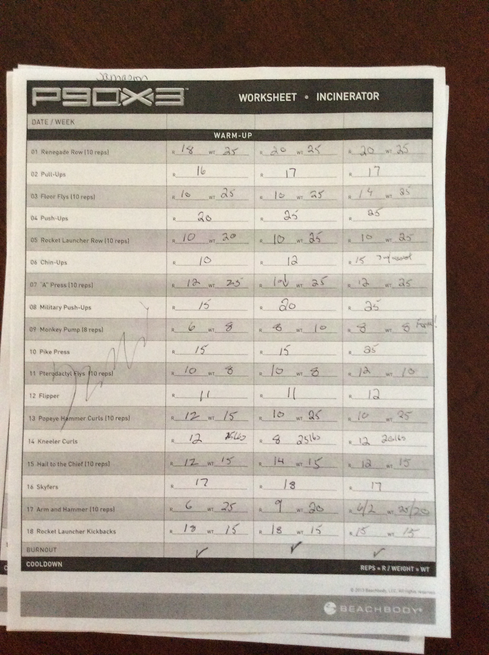 P90x Yoga Exercise List