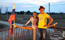Гимнастки в Вояже лето Крым Заозерное