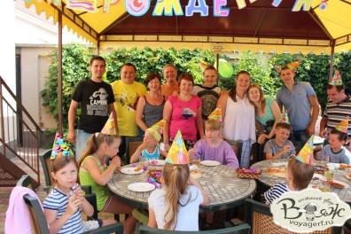 Отдых в Крыму с детьми. Заозерное. Гостиный двор Вояж. Наши праздники.