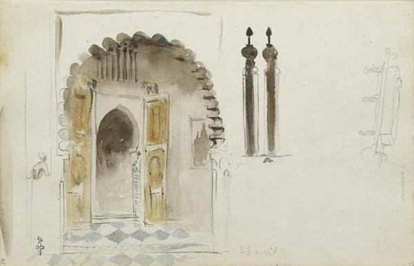Entrée d'une maison arabe