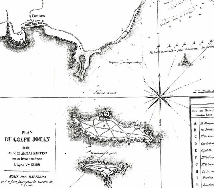 Cannes et le Golfe Juan - ancienne carte