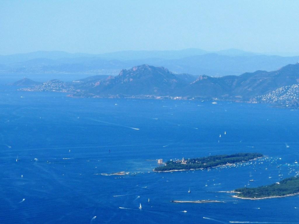 Vue des îles de Lérins - Cannes