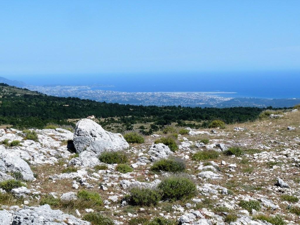 La Côte d'Azur vue du camp de la Malle