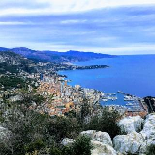Vue de Monaco depuis la Tête de Chien 550m