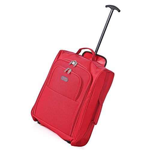 Frenzy-5Cities-55cm-50cm-lger-Trolley-bagages--main-Sac-Approuv-Ryanair-et-Easyjet-2-Wheel-Cabin-bagage--main-Conseil--33-42L-Voyage-Valise-sac-avec-un-cadenas--50CM-Rouge-0