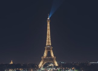 Paris tour eiffel nuit