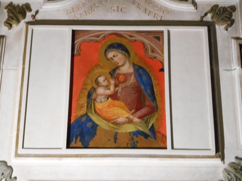 """""""La Vierge et l'Enfant"""" fin du XIVème (Anonyme)"""