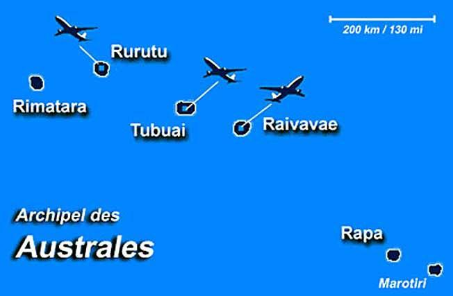 îles australes archipel carte