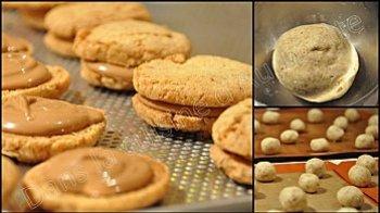 macaron cacahuete pate praline 1 Macarons à la cacahuète