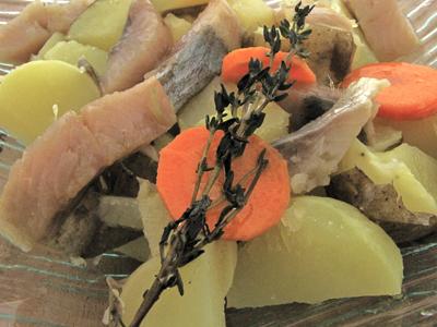 Harengs marinés pommes à l'huile