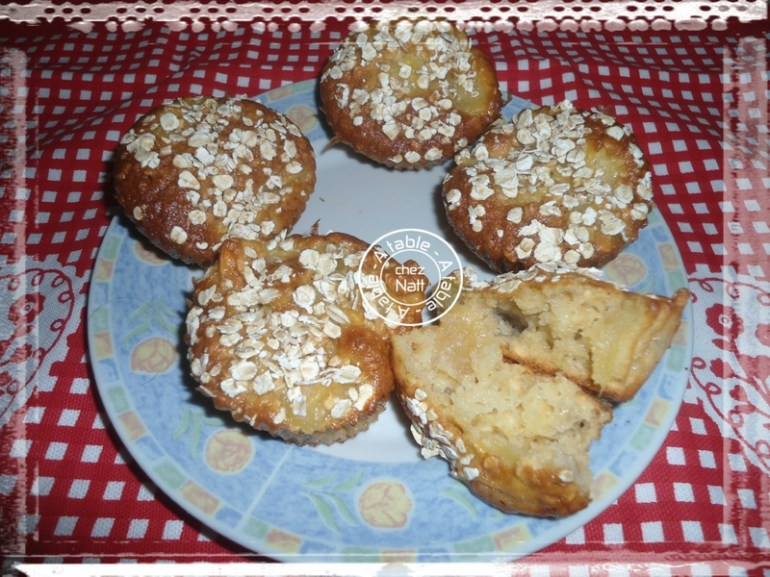 muffins aux pommes et avoine