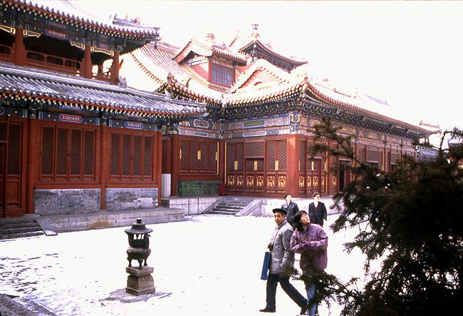temple de confucius sous la neige