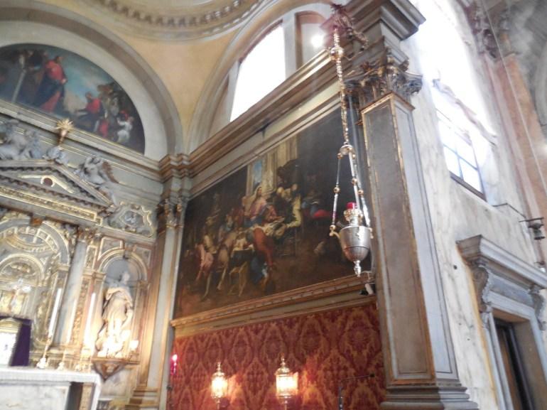 """""""La tentation de Saint Antoine"""" oeuvre du Tintoret."""