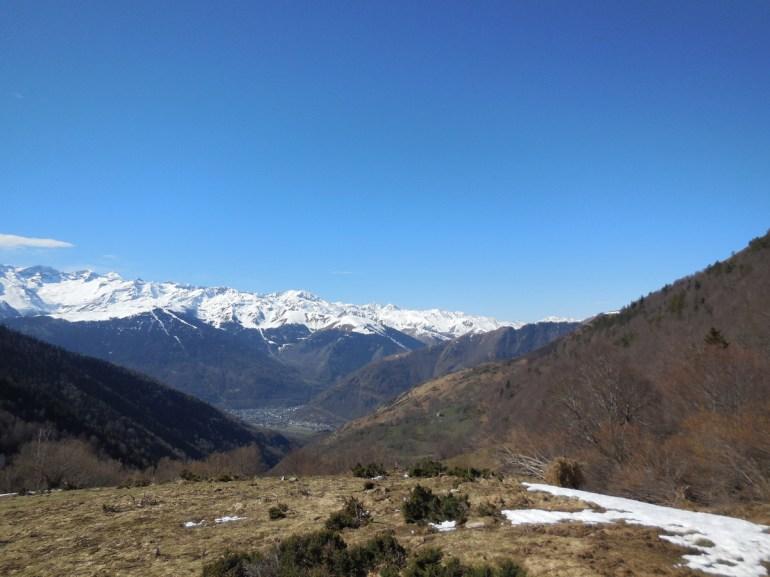 Vers 1500 m, quelques restes de neige.