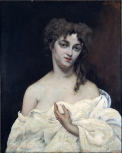 portrait de femme courbet