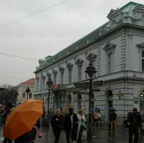 knez mihailova belgrade en hiver