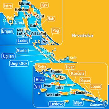 Quelles Iles en Croatie choisir et pour quel type de séjour ou d'excursion? 1