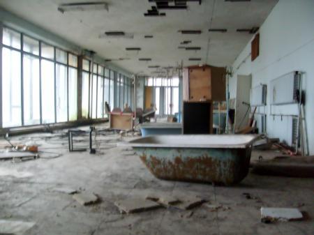 Tchernobyl Pripyat sanitaires insalubres