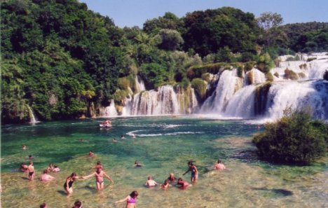 baignade krka parc national croatie