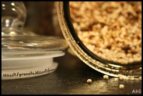 muesli granola petit dejeuner