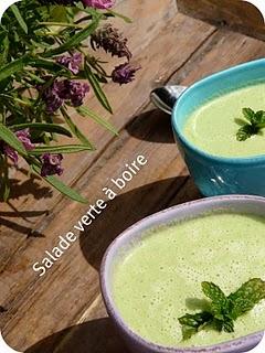 Salade verte à boire : recette végétalienne d'une soupe verte toute froide 1