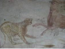 Scène d'animaux sauvages - fouilles Pompei