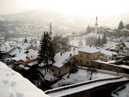 travnik sous la neige