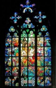 vitrail mucha cathedrale saint guy prague