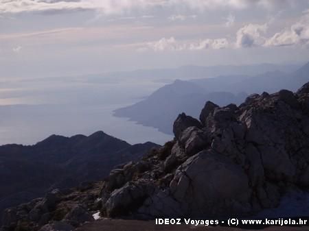 Massif Biokovo et Adriatique
