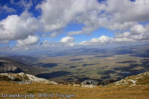 Livno montagne Bosnie