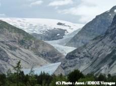 Fjord gelé en Norvège