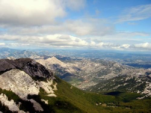Lovcen vue montagnes