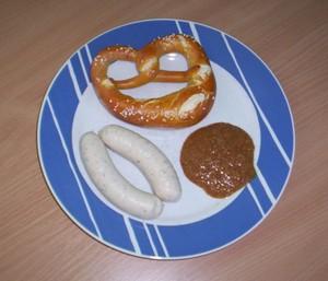 Munchner Weisswurst bretzen