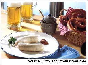 Weisswurst bier bretzel