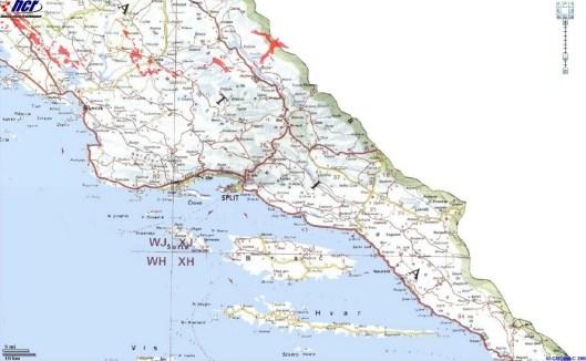 carte mines dalmatie du nord