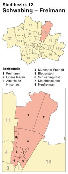 Schwabing Freimann Munich Muenchen