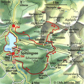 spitzingsee carte lac baviere