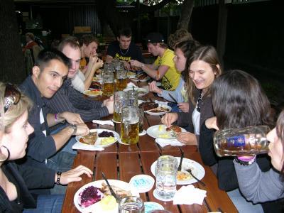 Biergarten restaurant munich