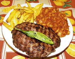 Pljeskavica burger serbe