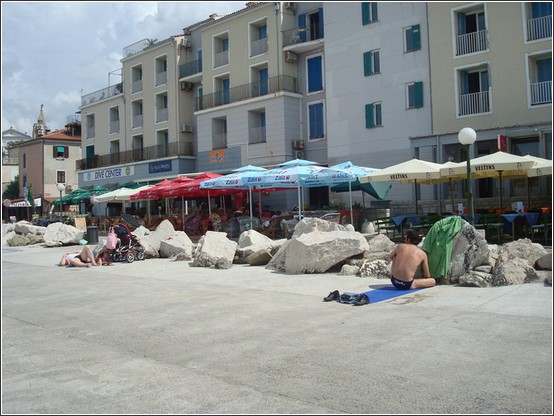 Piran plage Voyage de lItalie aux Balkans (Slovénie, Croatie, Serbie, Macédoine, Albanie)