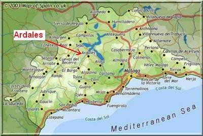 ardales carte andalousie