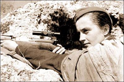 sniper russe femme armee rouge