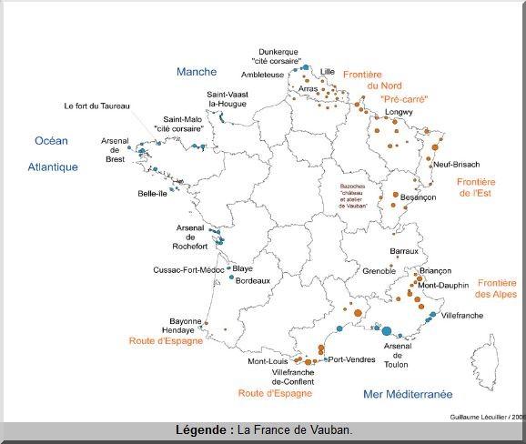 France de Vauban carte