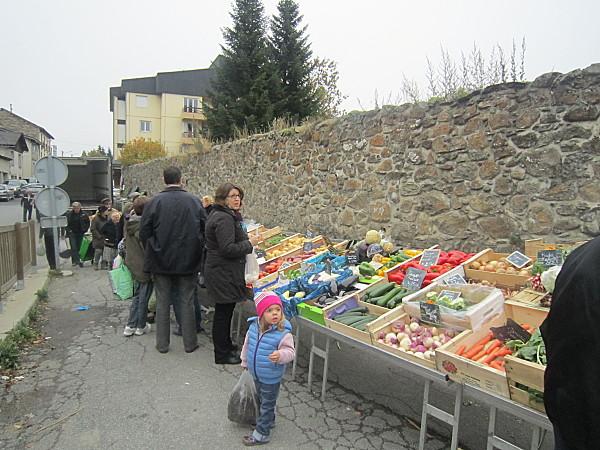 Formigueres marche aux legumes