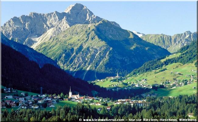 Autriche Vue sur Riezlern, Hirschegg, Mittelberg